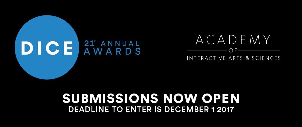 D.I.C.E. Awards Submissions Now Open