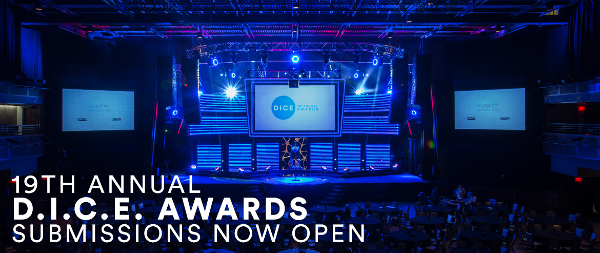19th Annual D.I.C.E. Awards Submissions Now Open